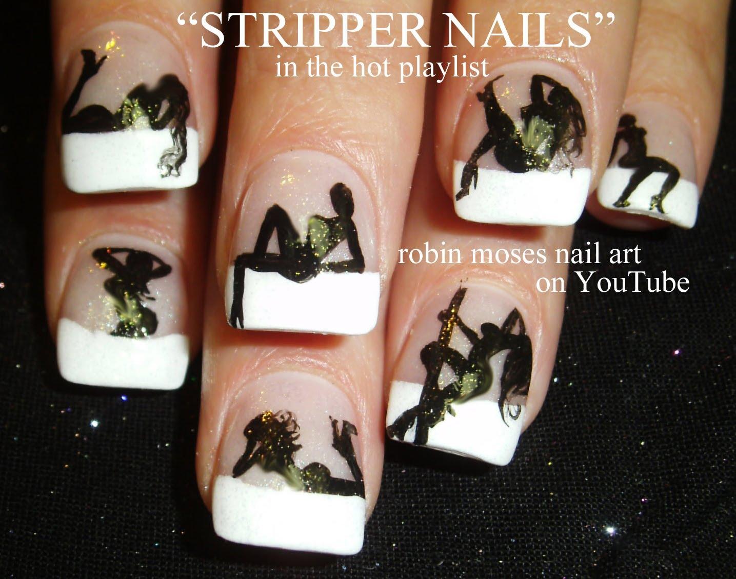 1435x1129 Hot Nails! Exotic Dancer Nail Art Design Stripper Nails Tutorial
