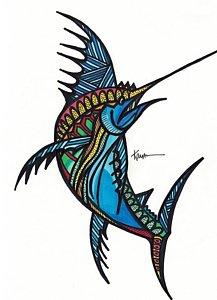 217x300 Exotic Fish Drawings Fine Art America