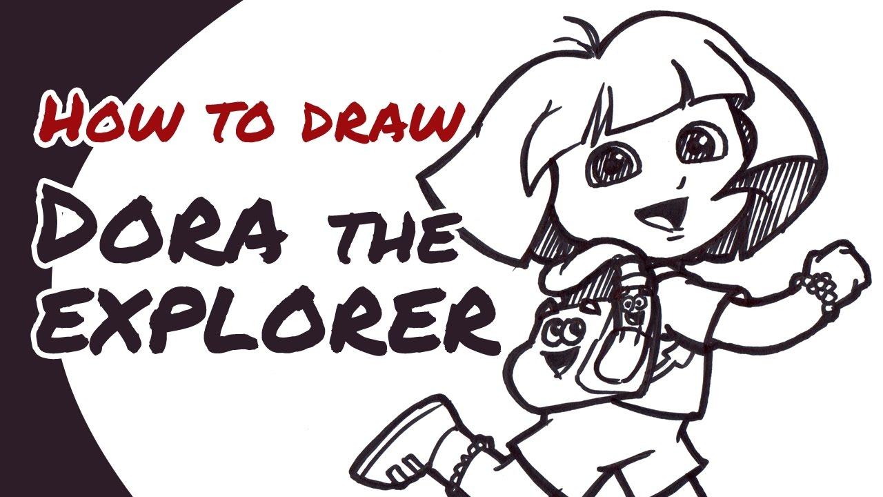 1280x720 How To Draw Dora The Explorer (With Backpack Amp Map) Drawing