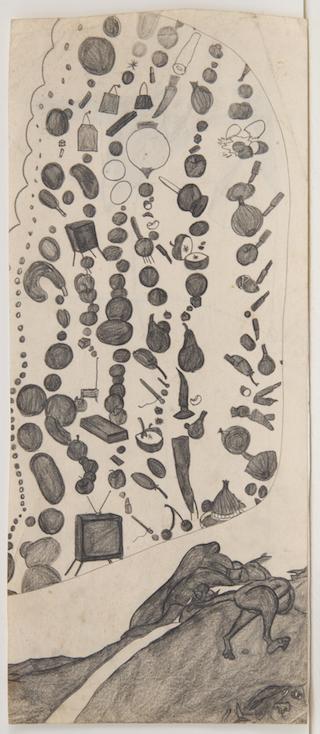 320x734 Explosive Drawing Susan King's Mash Ups, Strange Landscapes,