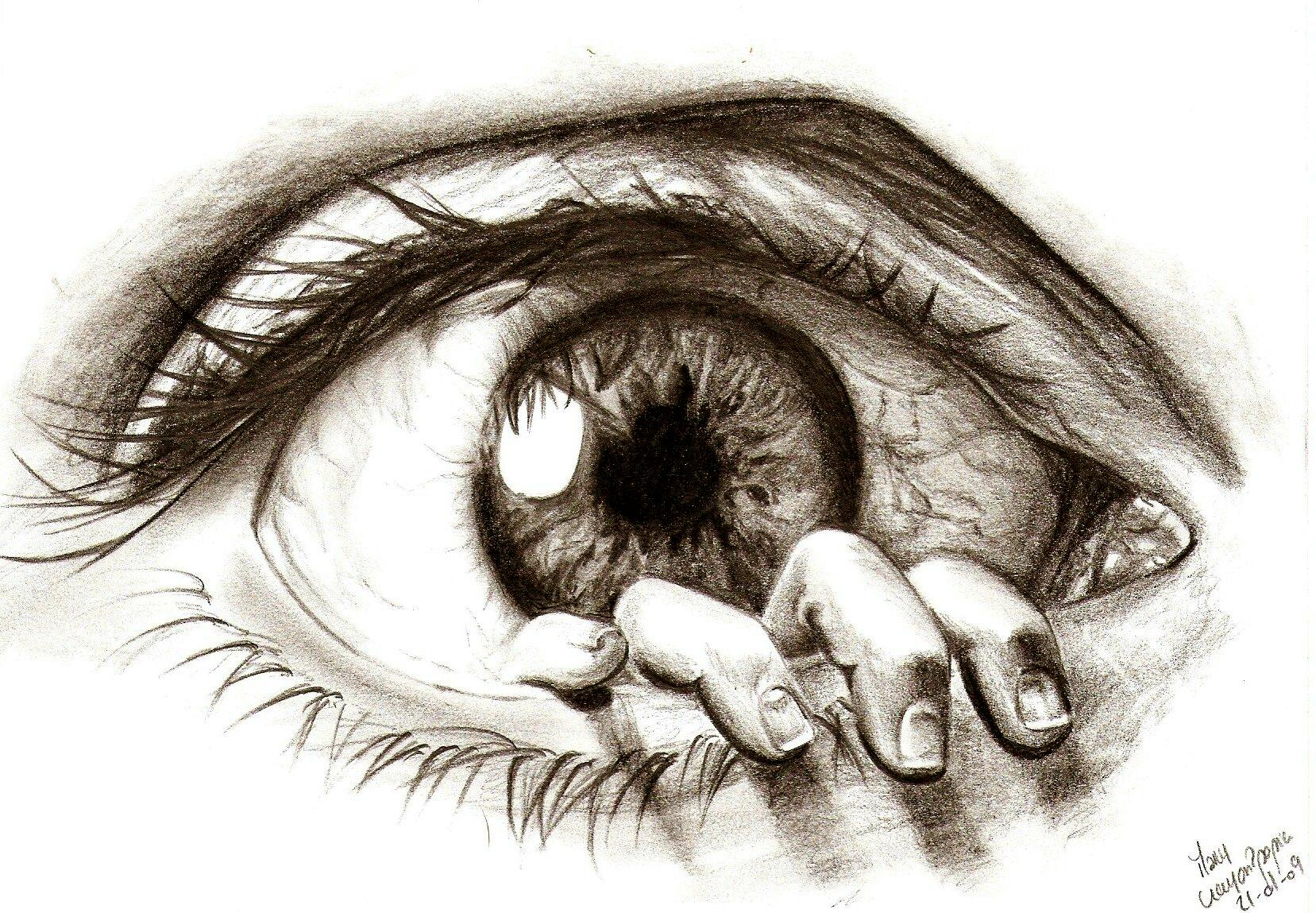 1657x1149 Creative drawings 30 Beautiful Eye Macros, Drawings