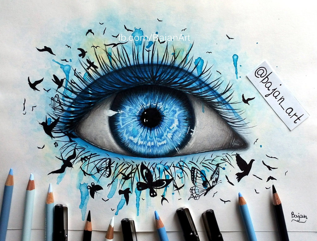 1024x779 Freedom Eye Drawing By Bajan Art