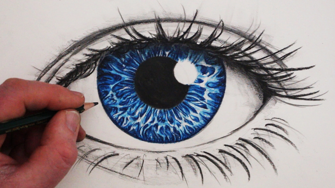 1280x720 How To Draw A Realistic Eye In Colour