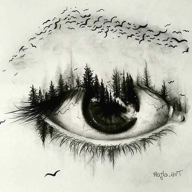 640x640 Super Creative Eye Drawing By @majla Art