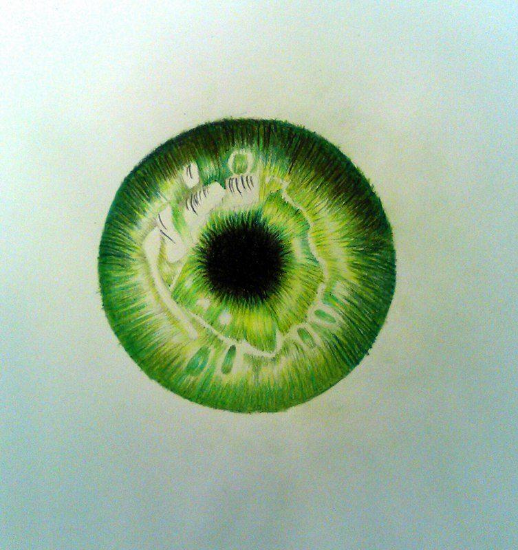 753x800 Green Eyeball Drawing By Uchihaakanee