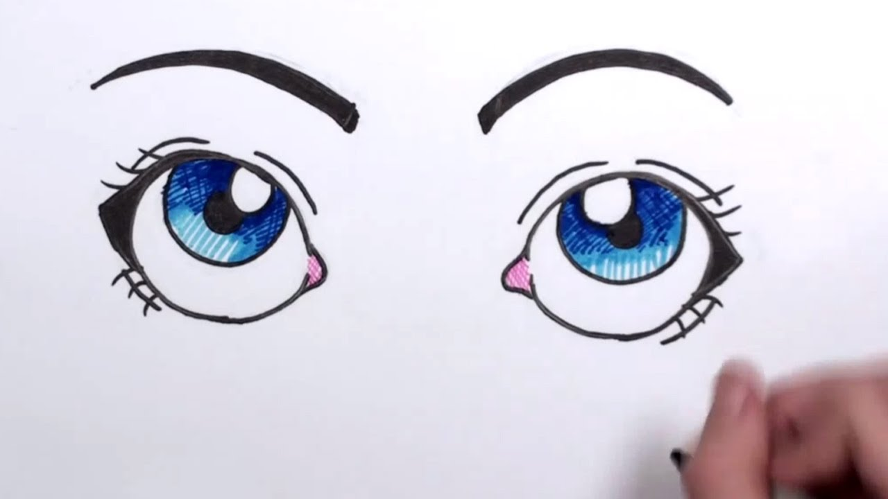 1280x720 How To Draw Cartoon Eyes Mlt