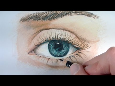 480x360 Draw A Realistic Eye With Colored Pencils