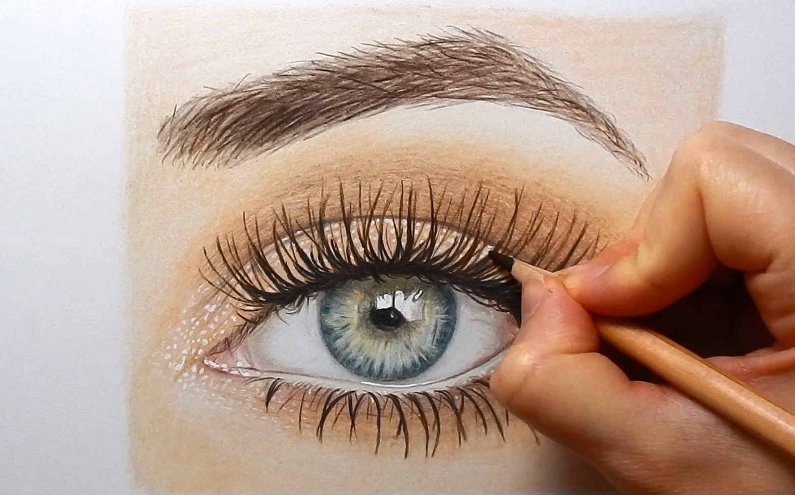 1575x981 Drawing, Coloring An Eye With Colored Pencils Emmy Kalia