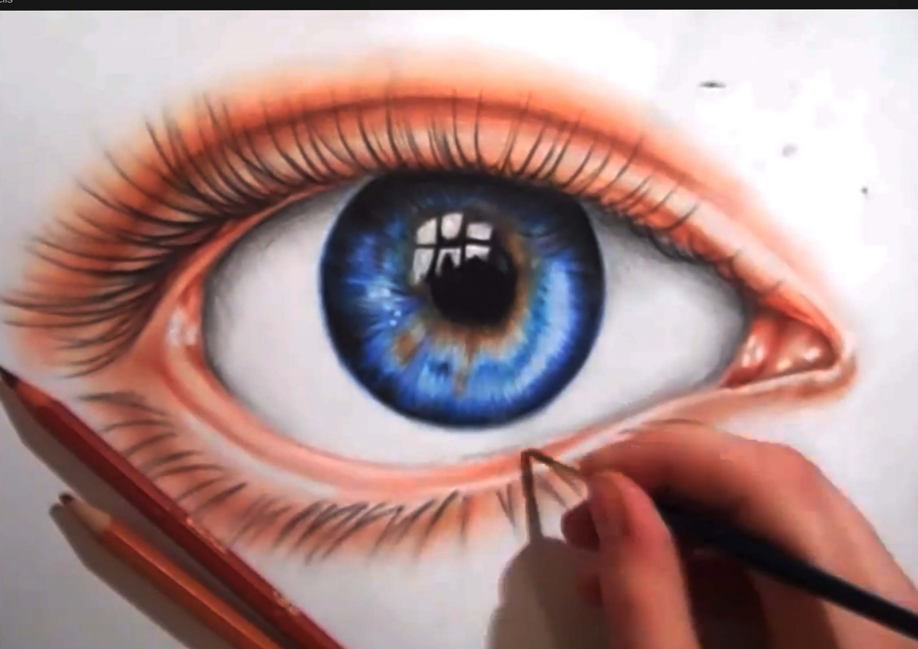 3000x2121 Drawing An Eye Using Colored Pencils
