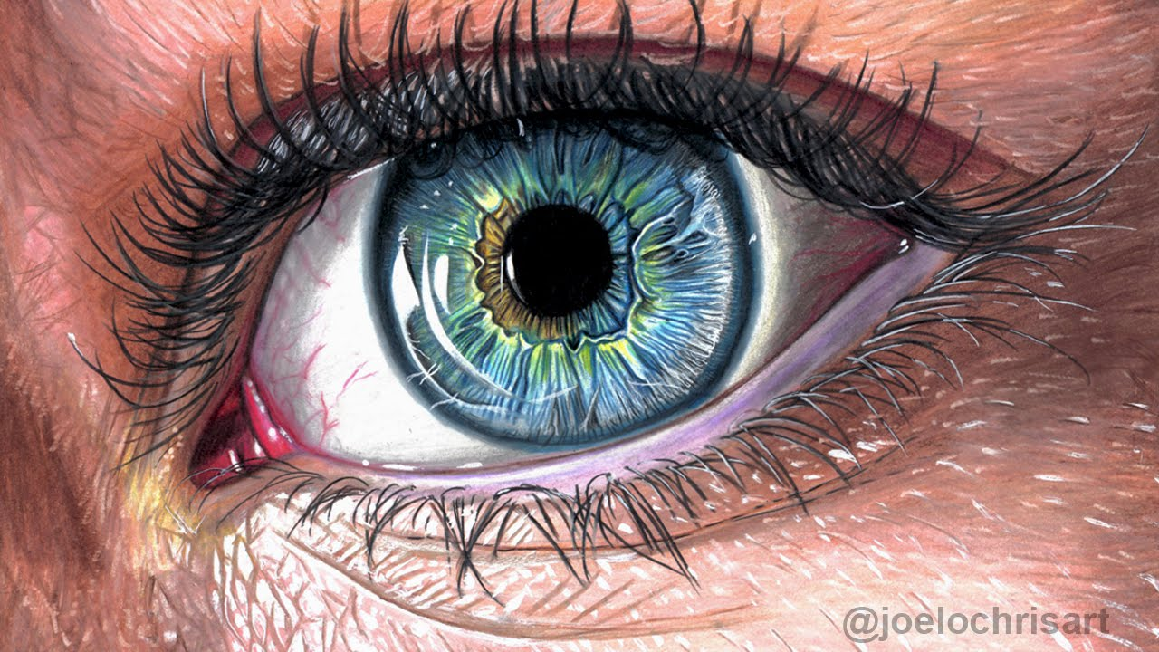 1280x720 How To Draw A Realistic Eye With Colored Pencils