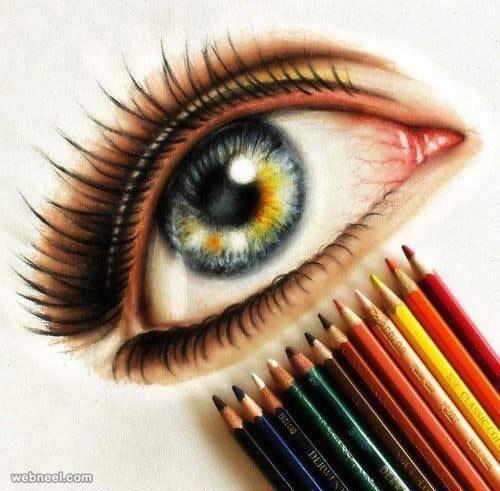 500x491 Eyes Color Pencil Drawing 5