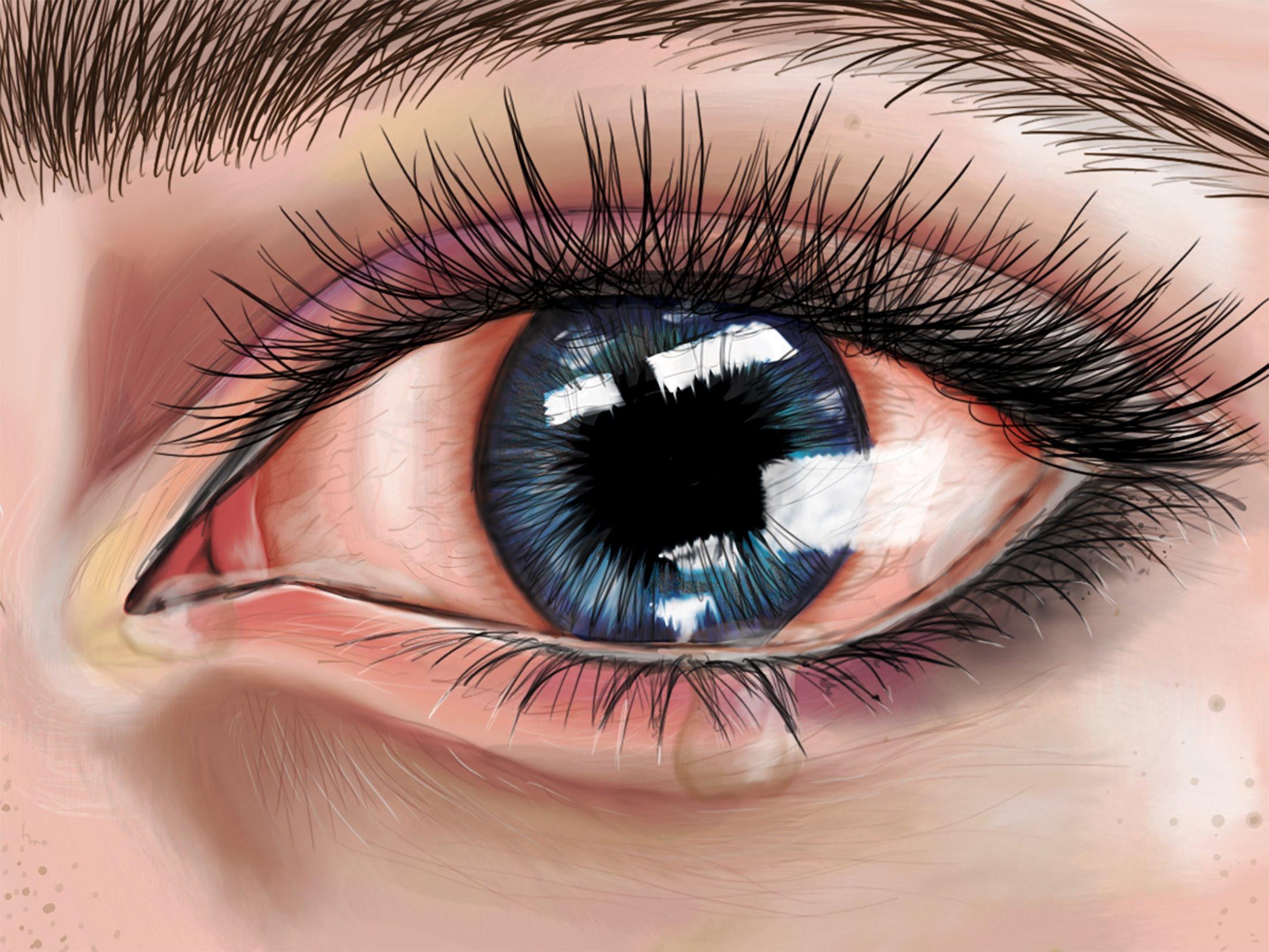 2200x1650 Crying Eyes Speed Drawing Emsart