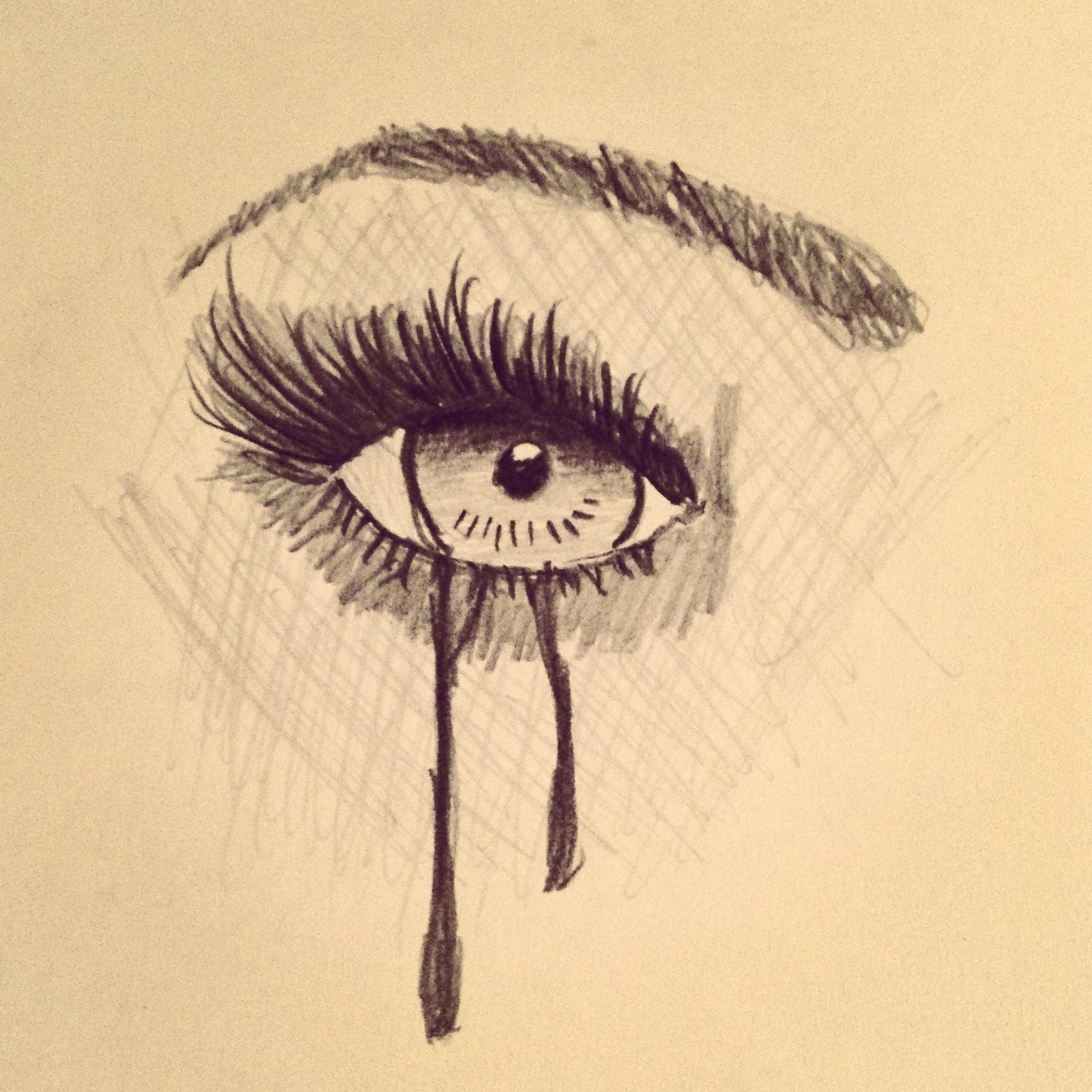 1936x1936 Crying Eye Drawing By Maul Mccartney (C) Art I Drew