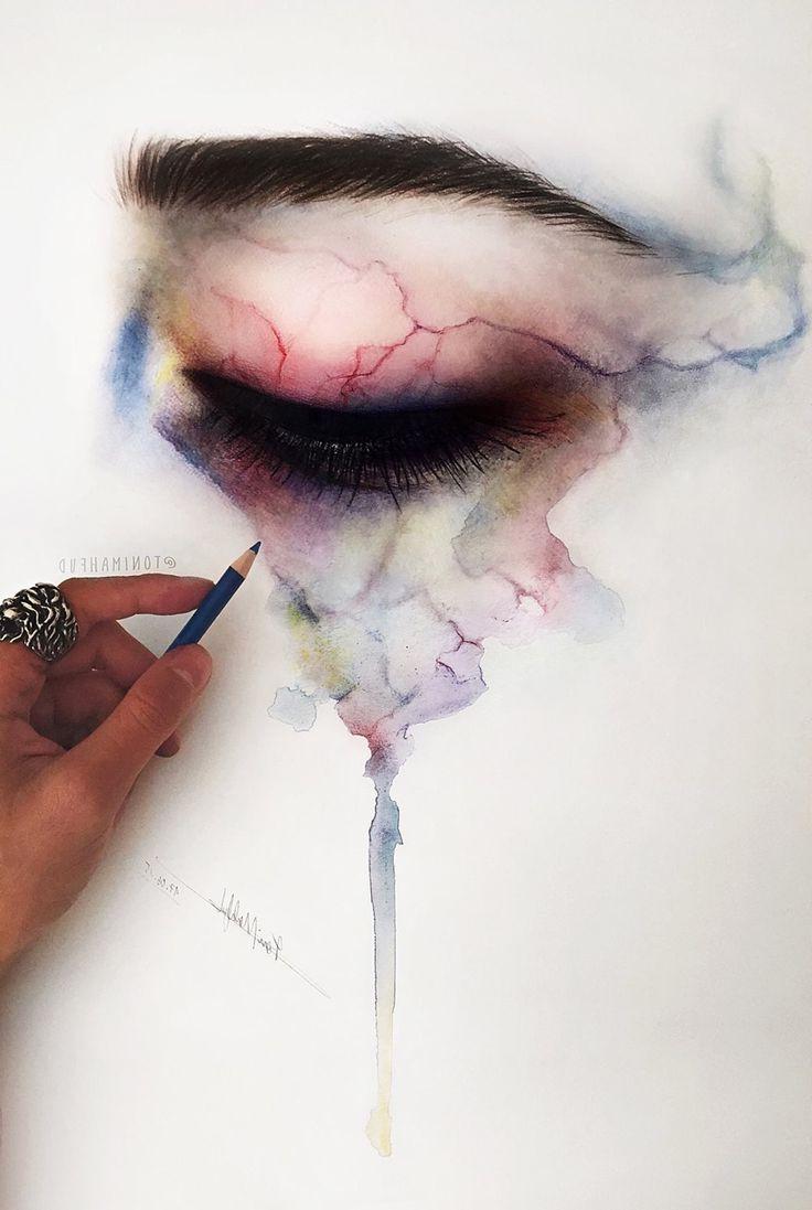 736x1097 Girls Eye Crying For Drawing Art Best Eye Drawings Ideas