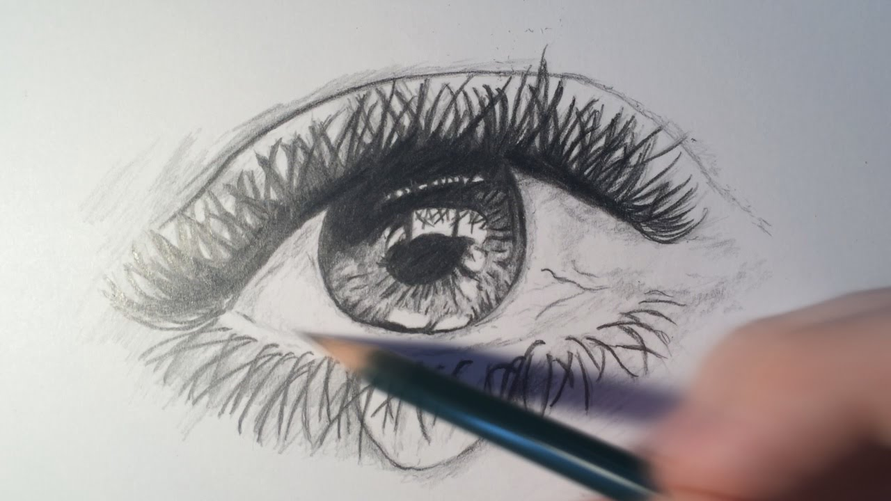 1280x720 How To Draw A Realistic Eye Crying (Time Lapse)