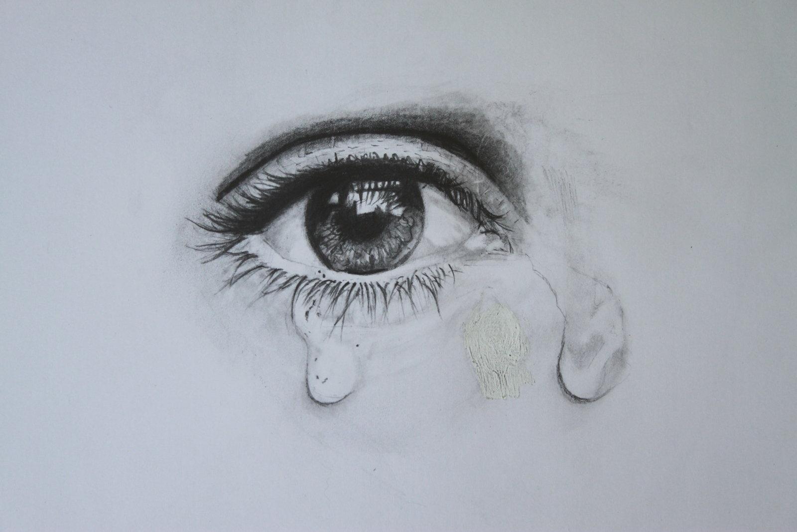 1600x1067 Crying Eye Drawing