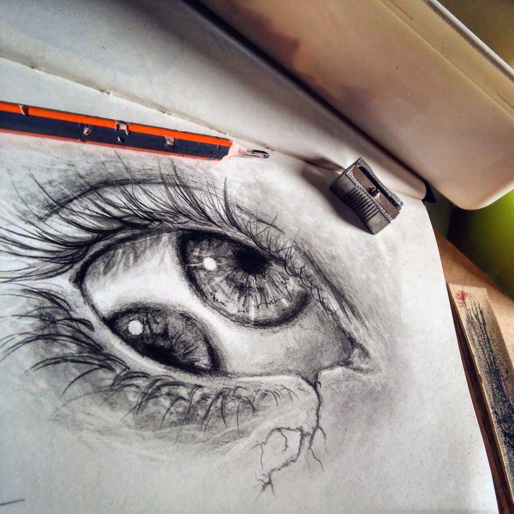 1024x1024 Double Eye Drawing By Cleicha