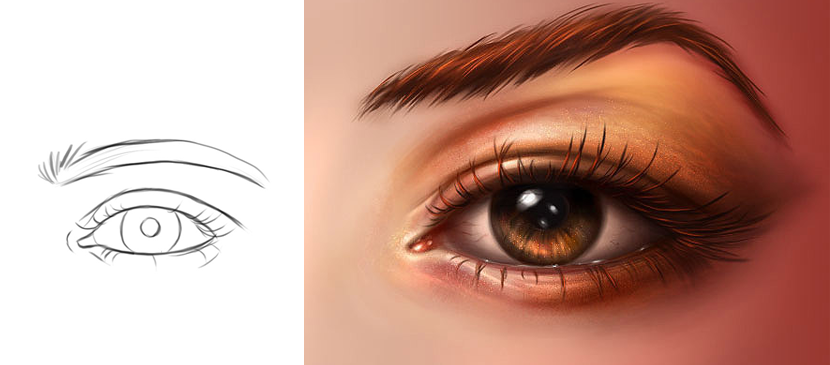 830x365 Drawing A Realistic Human Eye