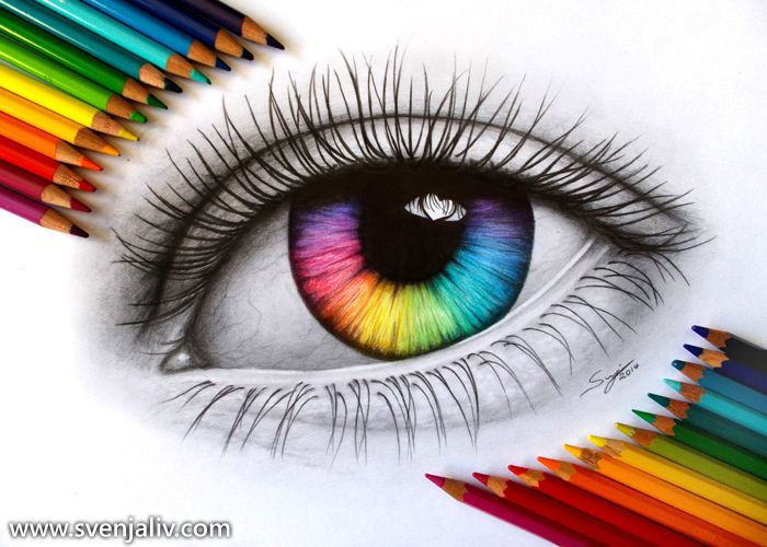 700x500 Gallery Eye Drawings With Colour,