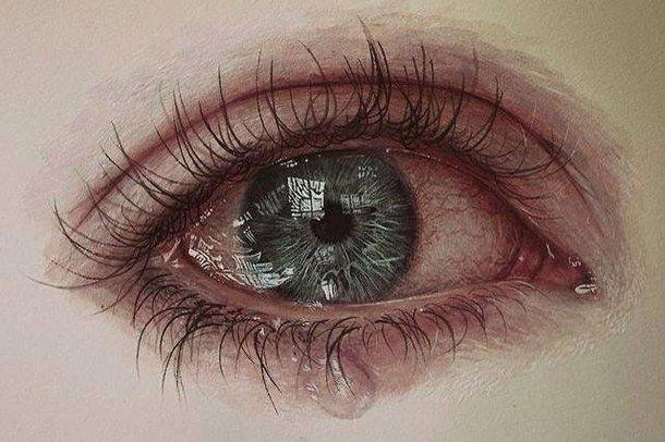 610x406 amazing anxiety beautiful color crying drawing eyes