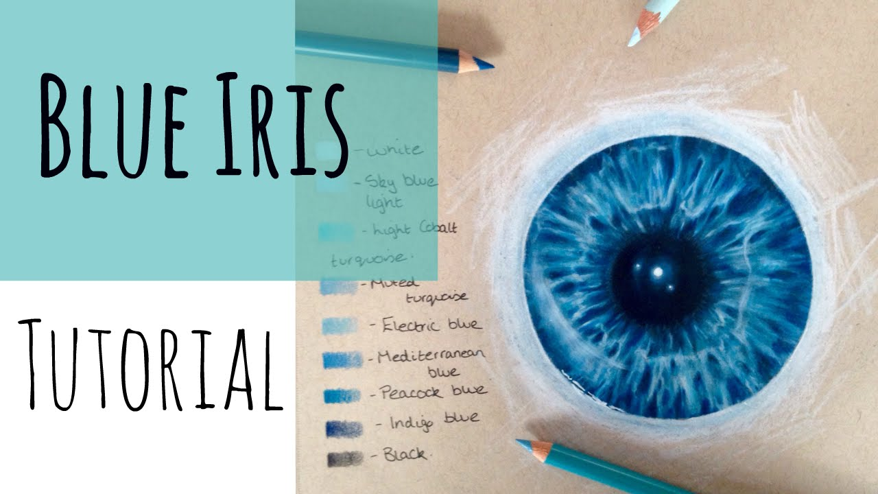 1280x720 Drawing Realistic Eyes How To Draw A Blue Iris