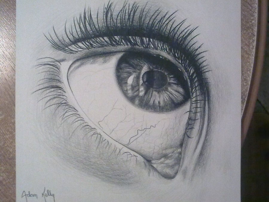 Contour Line Drawing Eye : Eye looking down drawing at getdrawings.com free for personal use