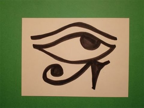480x360 Let39s Draw The Egyptian Eye Of Horus