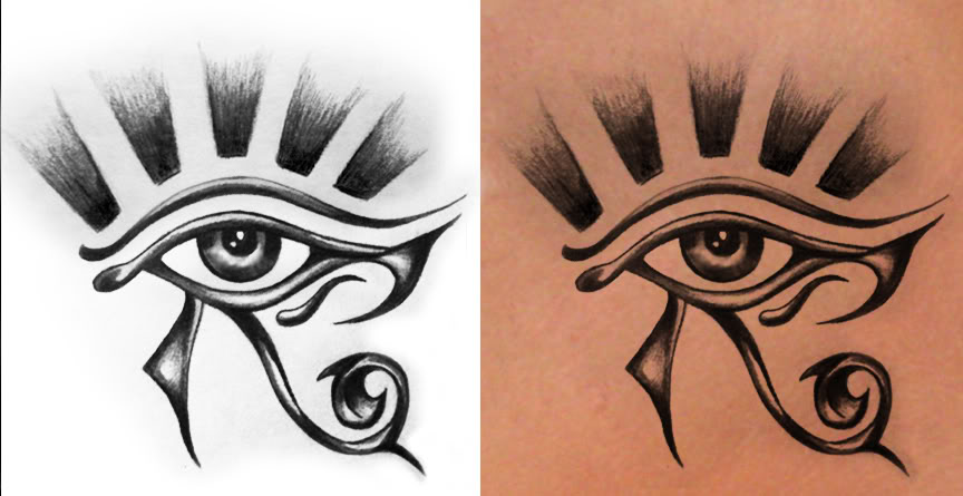Eye Of Horus Tattoo On Neck
