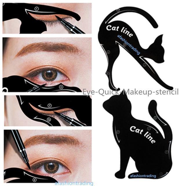 628x640 4pcslot For 10 Styles Quick Makeup Cat Eyeliner Smokey Eyeshadow