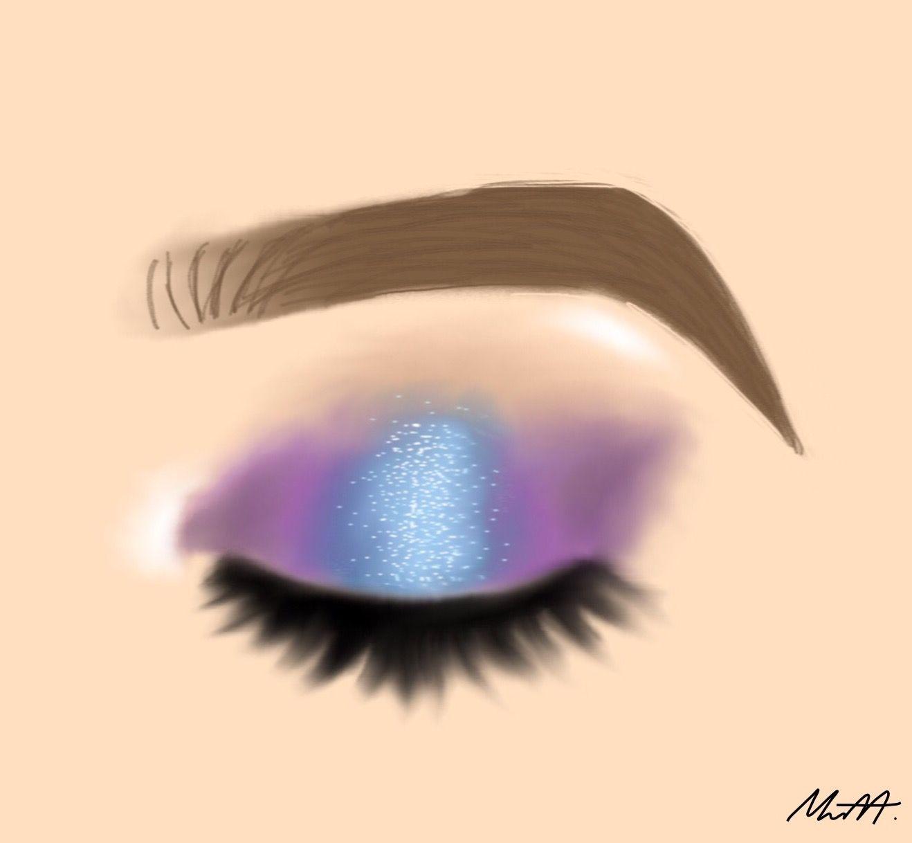 1318x1218 Glitter Mermaid Eye Makeup Drawing Drawings