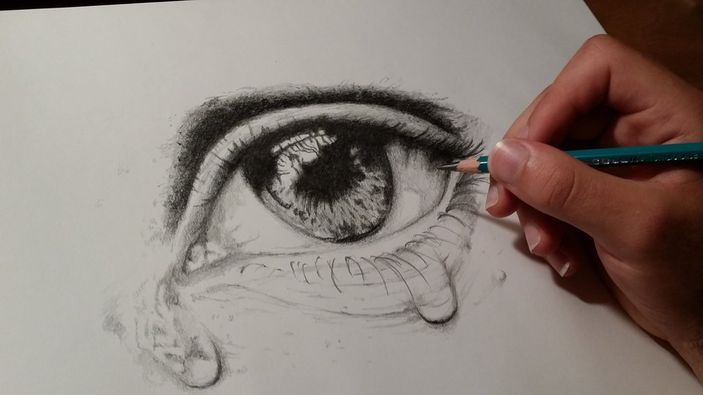 eye with tears drawing at getdrawings com free for personal use