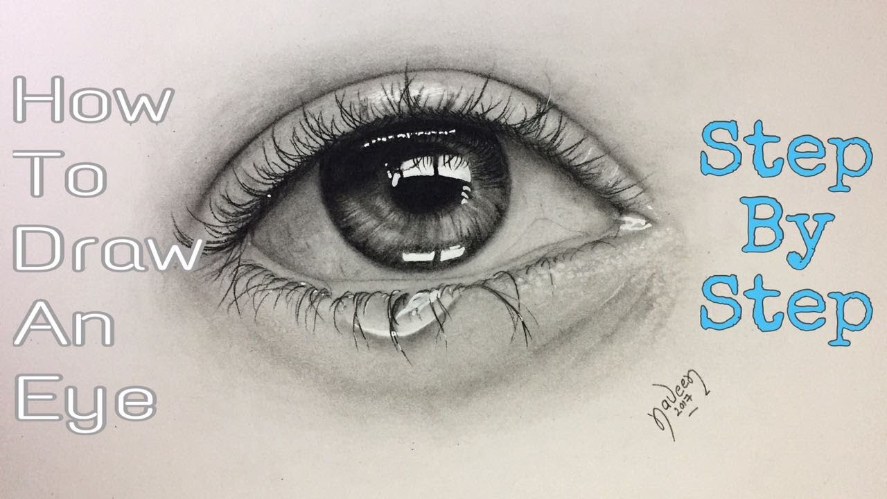 Drawing A Teardrop: Eye With Tears Drawing At GetDrawings
