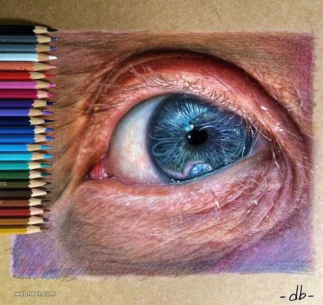 640x604 60 Beautiful And Realistic Pencil Drawings Of Eyes