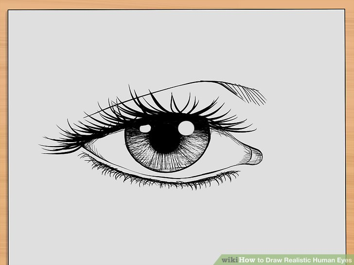 728x546 How To Draw Realistic Human Eyes 7 Steps (With Pictures)