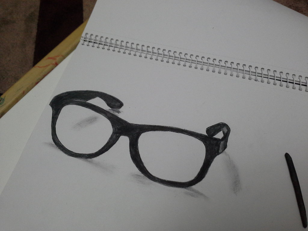 1024x768 3d Glasses Drawing By Supermaxxx