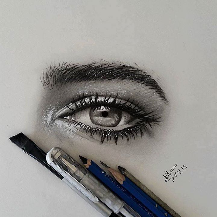 Eyes And Eyebrows Drawing at GetDrawings | Free download