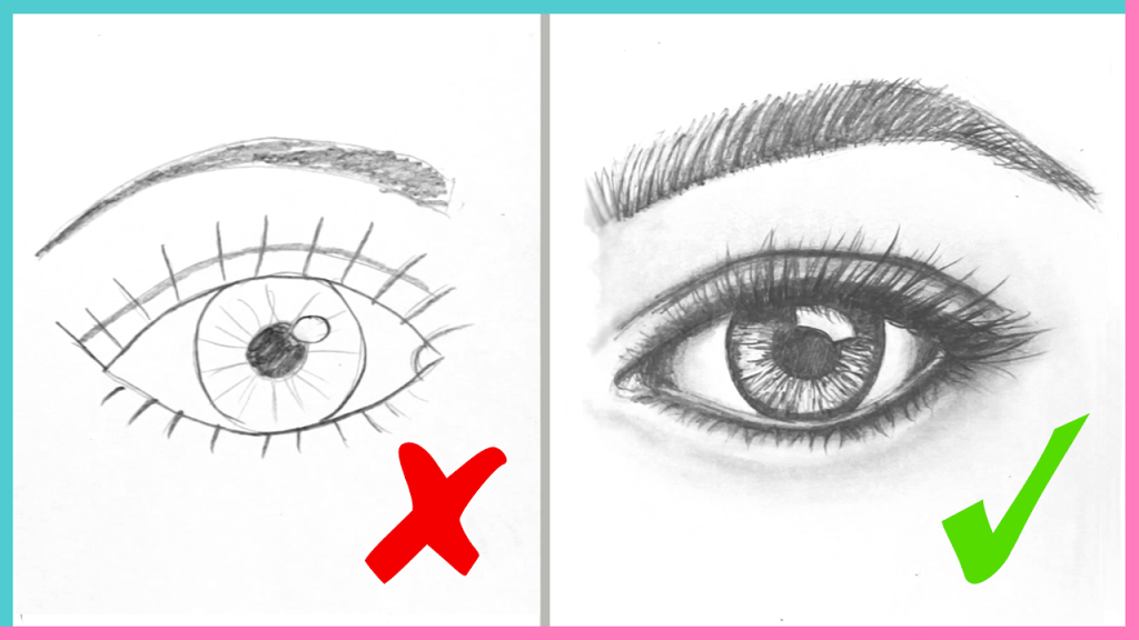 1024x576 Dos Amp Don'Ts How To Draw Realistic Eyes Easy Step By Step Art