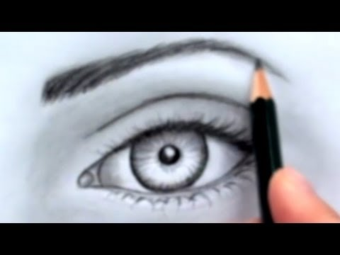 480x360 How To Draw A Realistic Eye (Without Time Lapse)