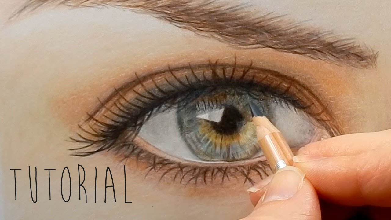 1280x720 Tutorial How To Draw Color A Realistic Eye And Eyebrow