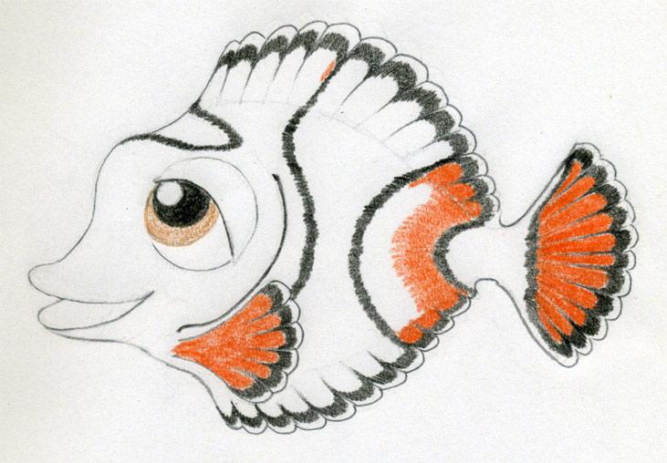 731x508 Cartoon Fish Drawing