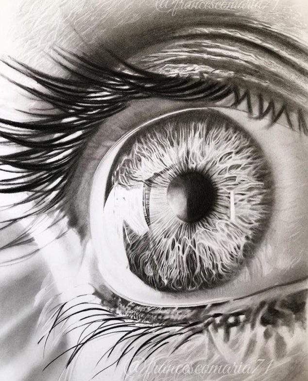 634x784 Beautiful Eyes Drawing by Francesco Maria votre ART