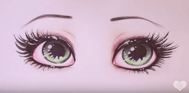 620x306 How to draw Big Green Eyes