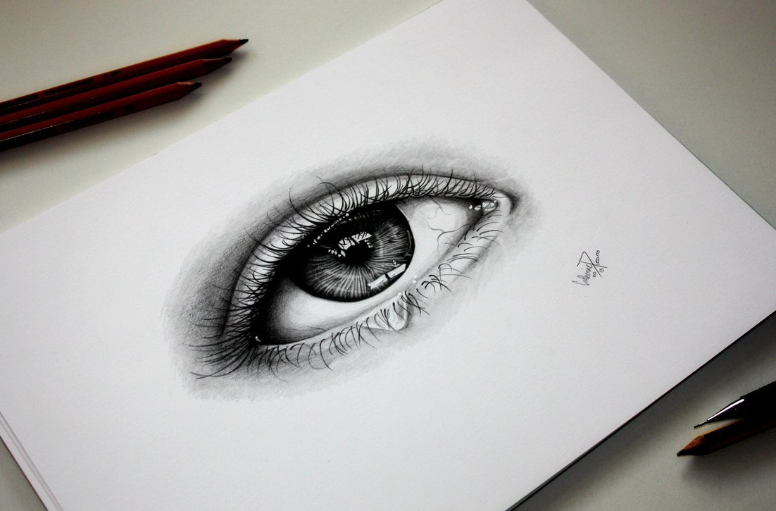 1102x725 Realistic eye drawing by TinTen97 on DeviantArt