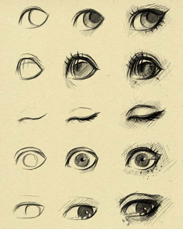 600x751 How To Draw Eye Portrait Step By Step