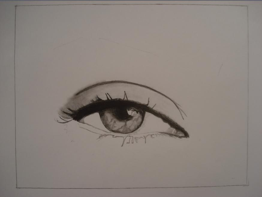 874x659 How To Draw The Female Eye 10 Steps (With Pictures)