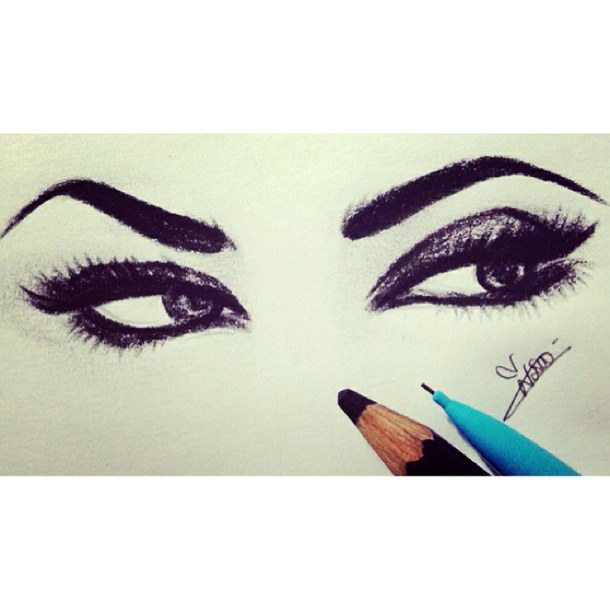 610x610 Eyes Makeup Drawing