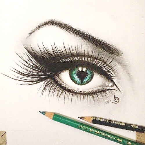 500x500 Beautiful, Blue, Draw, Eye, Makeup, Paint, Pen, School