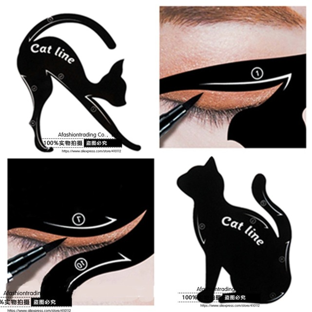 640x639 10pcslot Quick Makeup Stencils Cat Eye Liner Eyeshadow Drawing