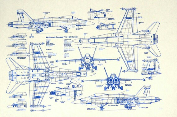 570x377 F18 Blueprint Aircraft Aircraft And Airplanes