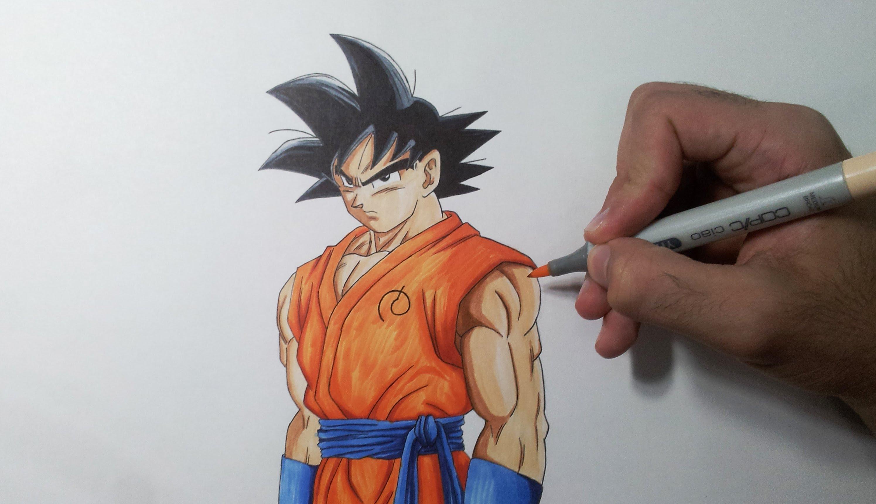 2991x1721 Drawing Goku